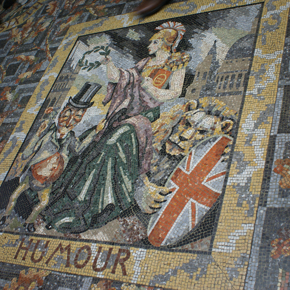 Mosaic Floor at National Gallery, by Boris Anrep